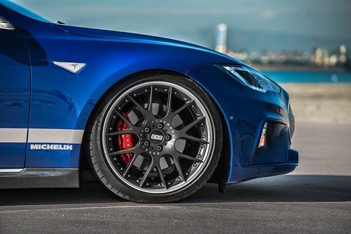 "Unplugged Performance Tesla Model S BBS wheels set 21"" performance"