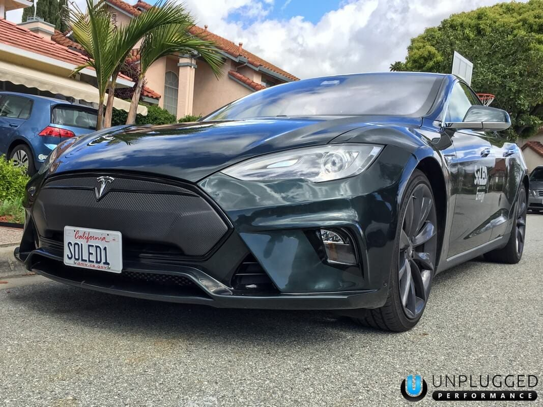 Unplugged Performance Flagship Front Fascia for Tesla Model S - Metallic Green