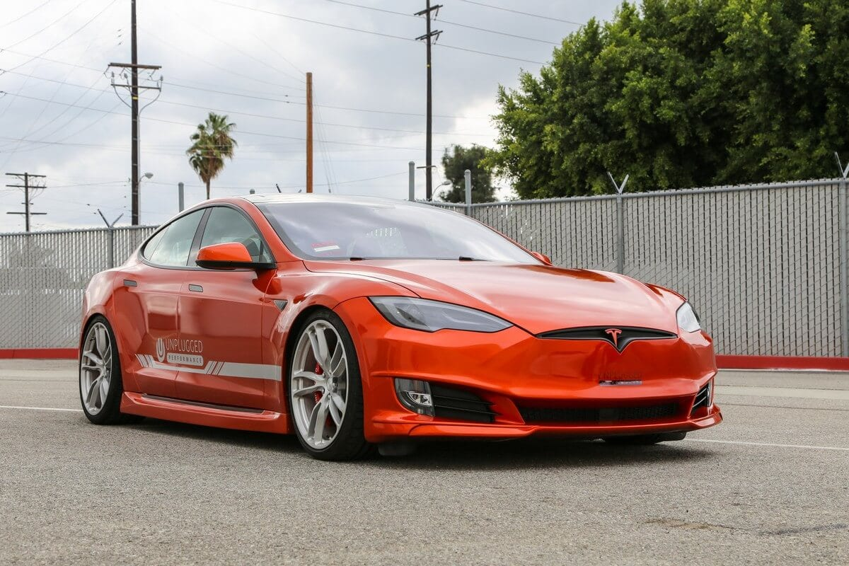 Unplugged Performance Refresh Front Fascia for Tesla Model S - Right 3/4 Angle