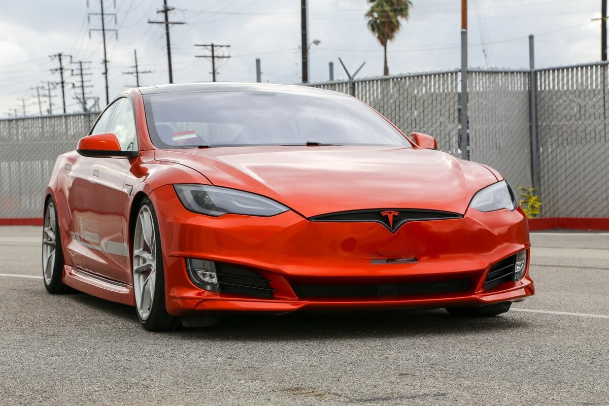 Unplugged Performance Tesla Model S Refresh Front Fascia Right 3/4 Angle