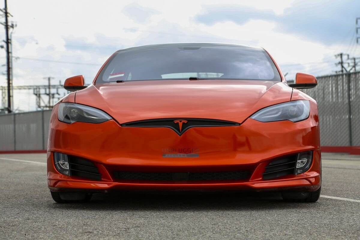 Unplugged Performance Tesla Model S Refresh Front Fascia - Front Straight Angle