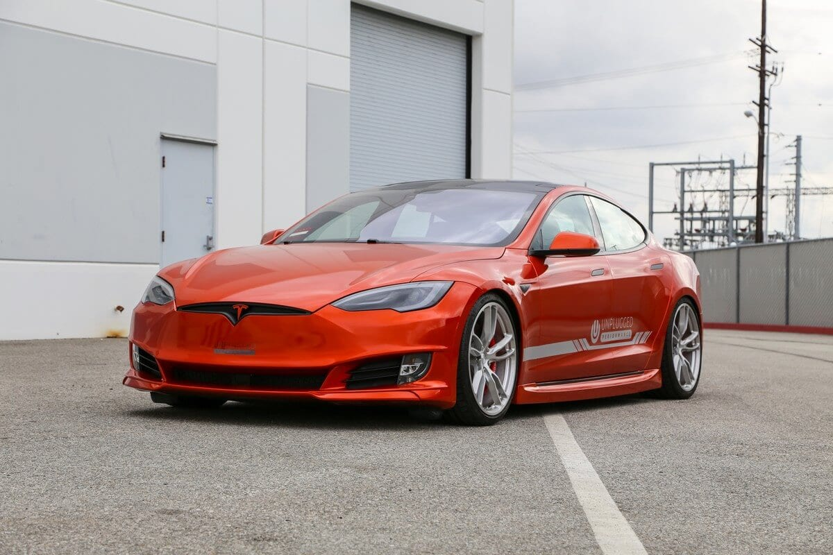 Unplugged Performance Tesla Model S Refresh Front Fascia Left 3/4 Angle