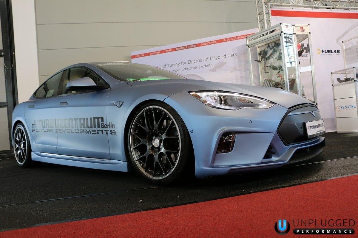 Unplugged Performance Flagship Front Fascia for Tesla Model S - Matte Light Blue