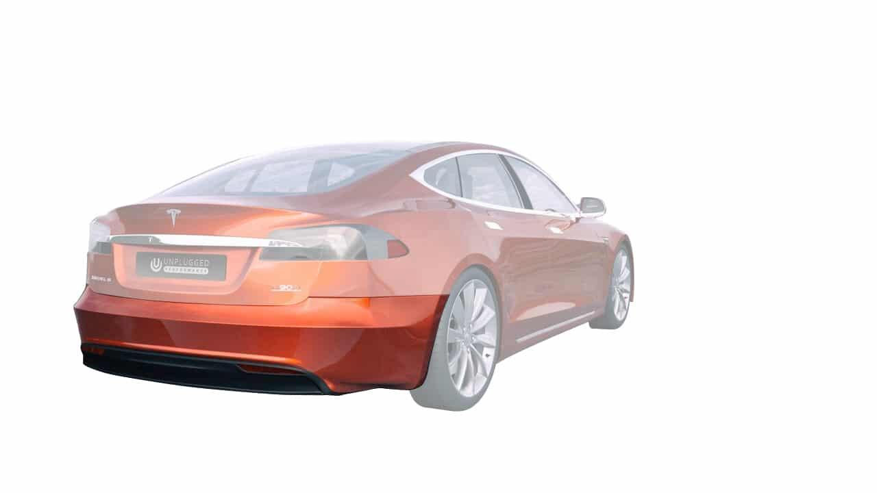 Refresh Rear Bumper Set for 2012-2016 5 Tesla Model S