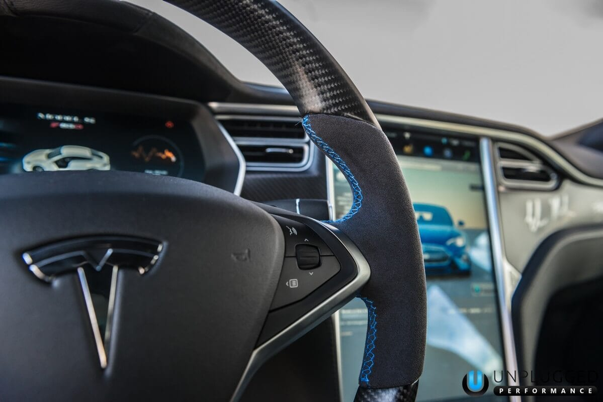 unplugged performance carbon fiber steering wheel tesla model s