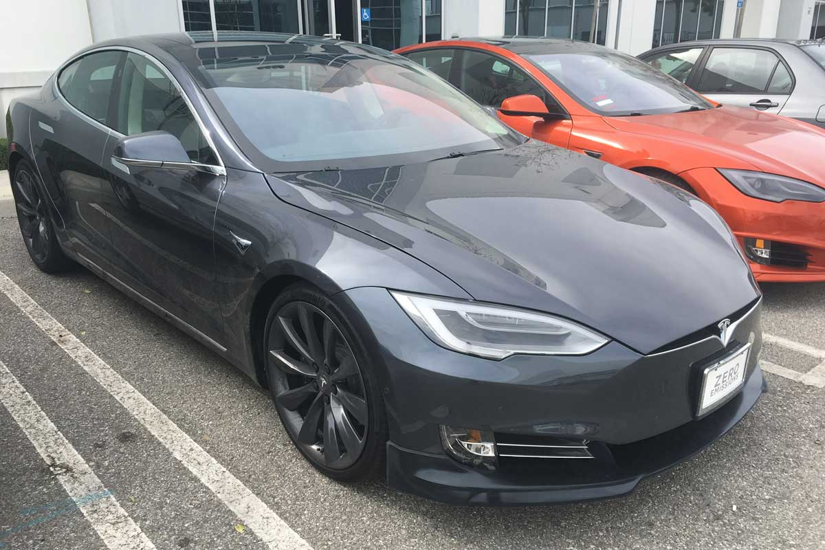 Unplugged Performance Front Lip Spoiler for 2016.5 Tesla Model S Facelift