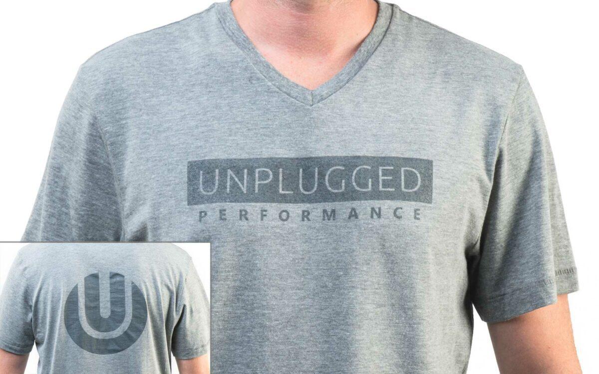 Unplugged Performance V-Neck T-Shirt Light Grey Main Image