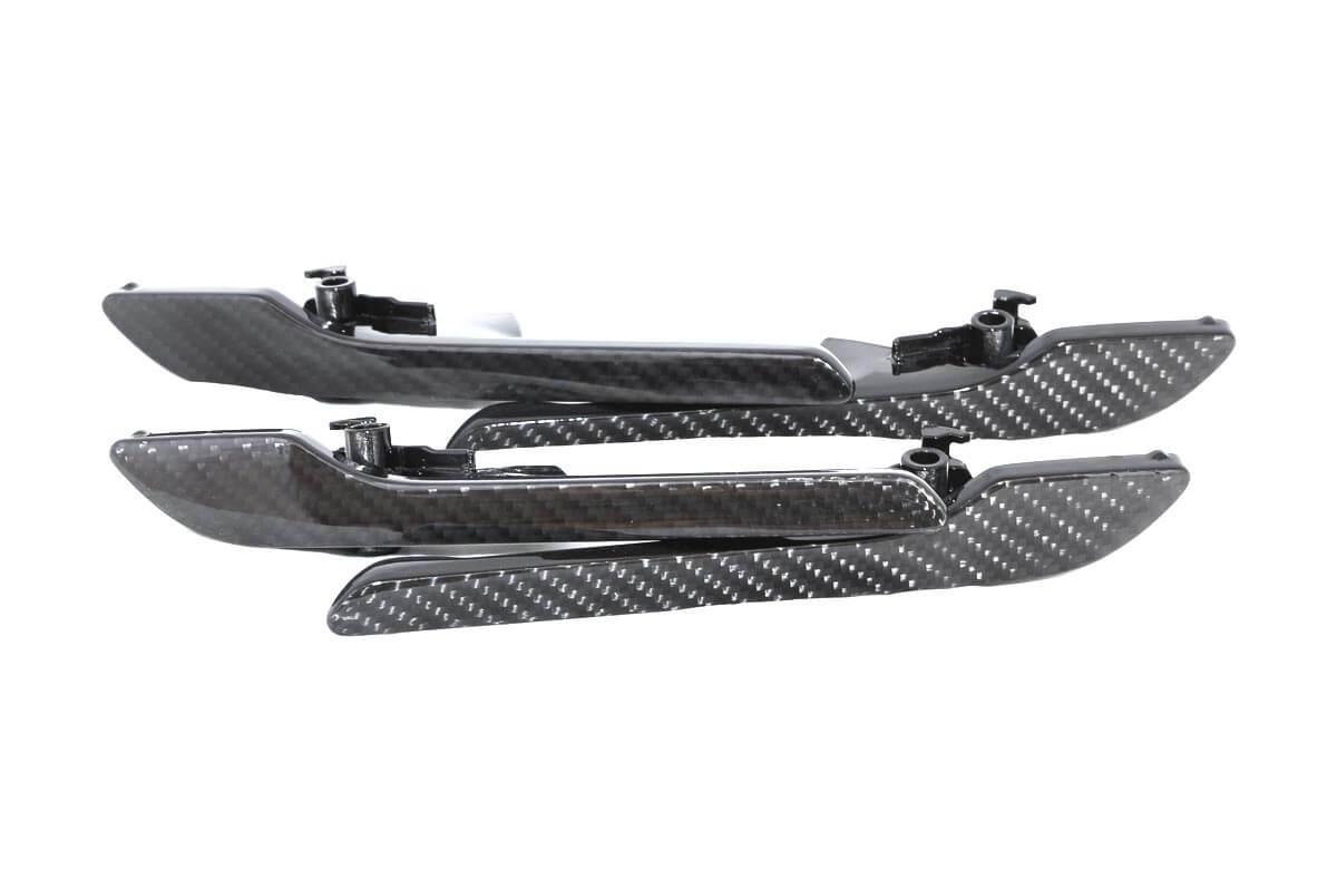 carbon fiber exterior door handle set for tesla model 3