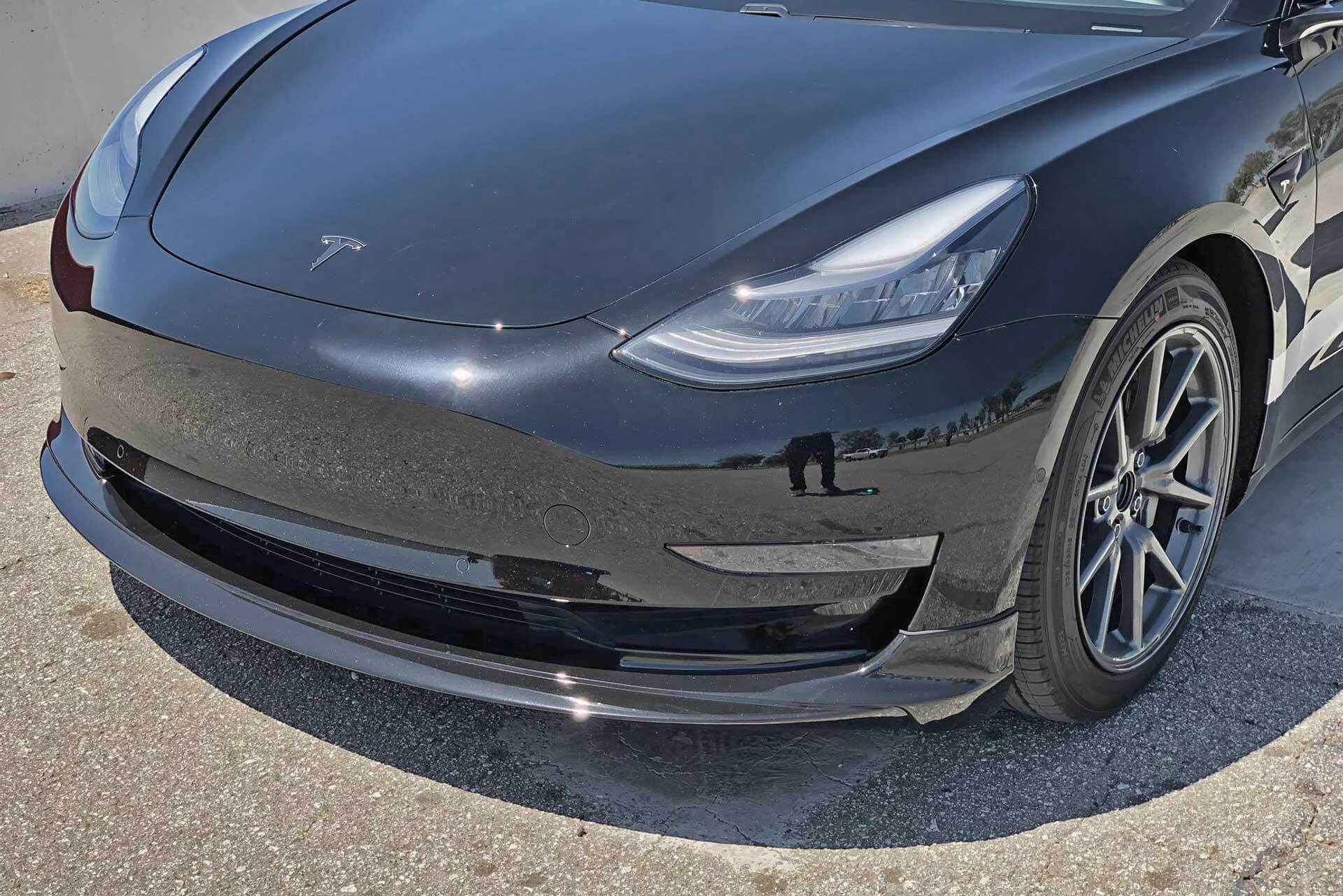 Front Lip Spoiler for Tesla Model 3 by Unplugged Performance
