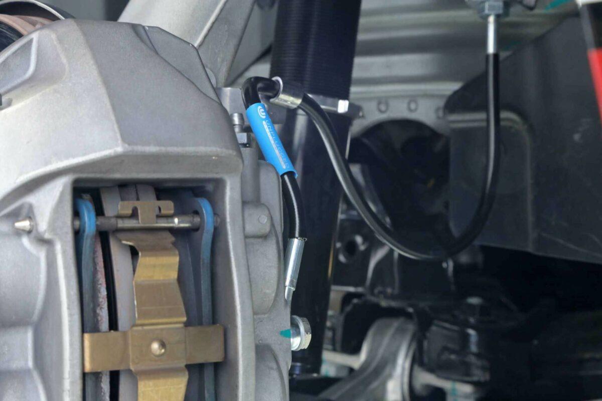 Unplugged Performance Brake Lines Tesla Model 3 FRONT