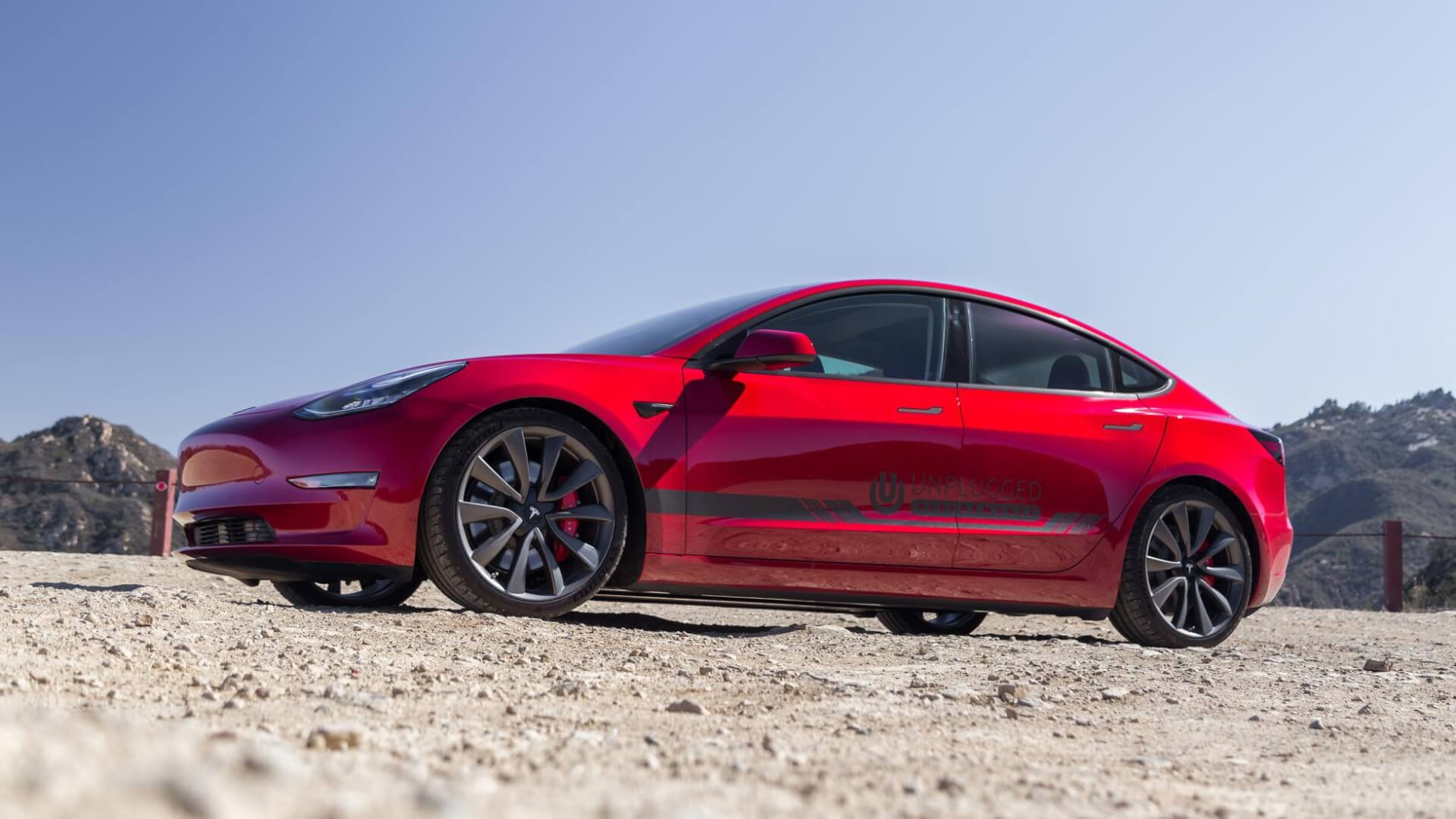 Unplugged Performance Coilover Suspension Kit for Tesla Model 3 Performance Upgrade Package