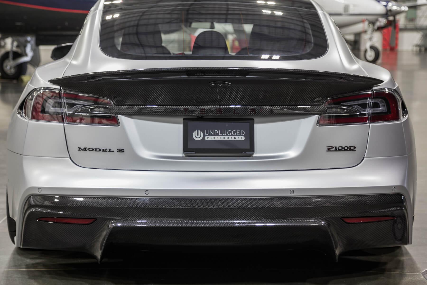Carbon Fiber Long Tail Trunk Spoiler for Tesla Model S