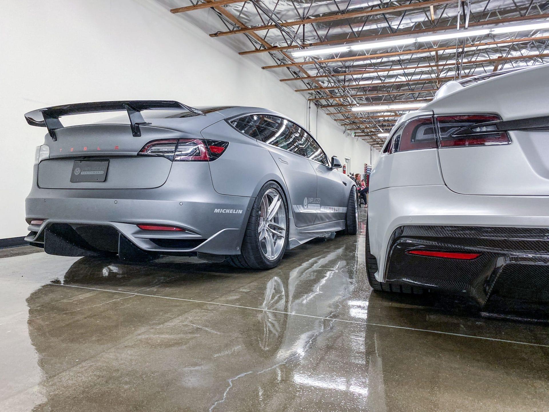 Ascension Rear Bumper and Diffuser System for Tesla Model ...