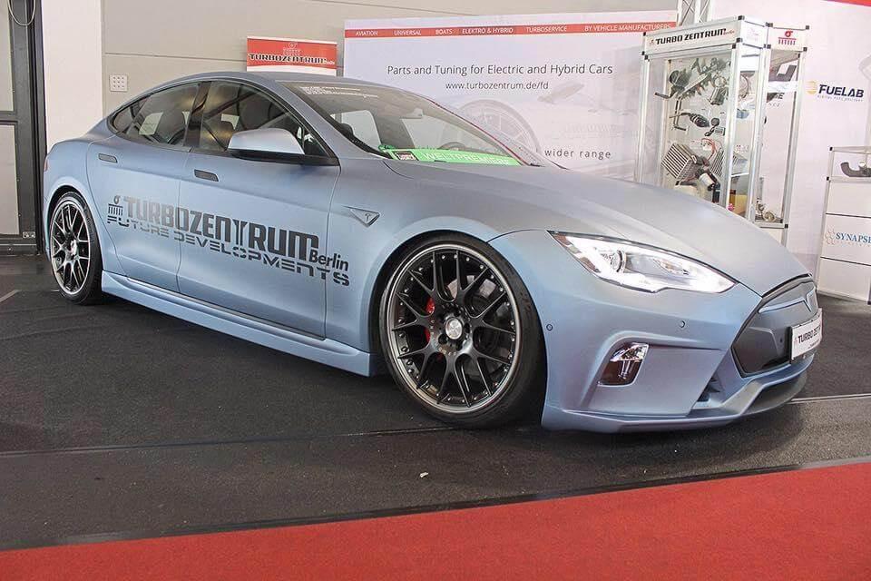 Unplugged Performance Germany: Satin Pearl Blue Tesla Model S Demo Car