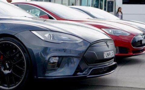 Unplugged Performance Australia Black Tesla Model S Demo Vehicle