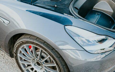 Unplugged Performance Autocross-Spec Adjustable Shock Set for Tesla Model 3