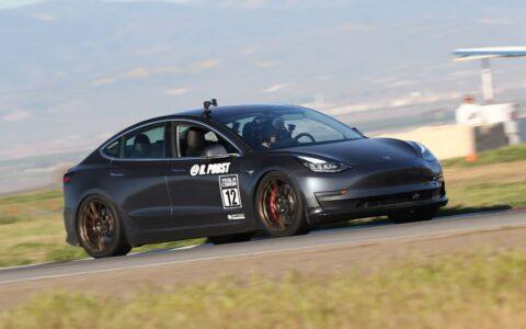 Unplugged Performance Pro Race Coilover Set – External Reservoir + Race Valving for Tesla Model 3