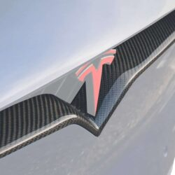 Carbon Fiber V-Stripe Replacement for Tesla Model X