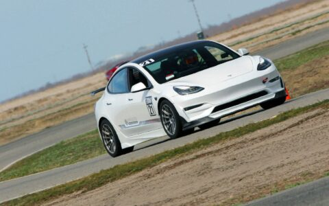 Pearl White 2021 Unplugged Performance Tesla Model 3 Ascension-R