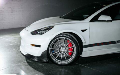 Pearl White Tesla Model 3 Ascension-R