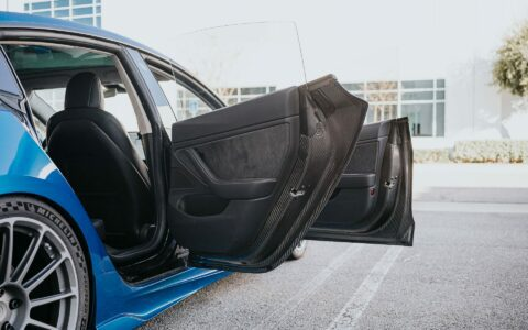 Unplugged Performance Tesla Model 3 With Dry-Carbon Fiber Doors
