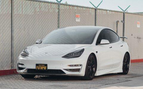 White FUTURPRF Tesla Model 3