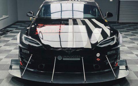 2021 Unplugged Performance Tesla Model S Plaid Pikes Peak Race Car